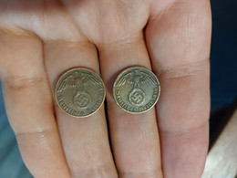 Germany Reich 1 Pfennig 1937 A And 1939 D - 1 Reichspfennig