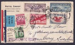 USA WW2 TRANSATLANTIC Airmail Cover To Sweden 1941 - …-1845 Préphilatélie