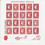 France 2014 Bloc N° F4871 Neuf Salon Du Timbre, Cérés  Cote 180 Euros - Mint/Hinged