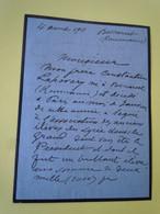 Lettre Autographe Eni B. LAHOVARY Député Roumain - Frère Du Poète Constantin LAHOVARY - Autographs