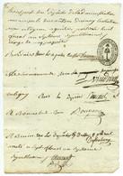 Postes Privées . Reçu Pour Le Transport De 5 Paquets De Dépêches Du Canton D'Ainay-le-Château (Allier) . 1799 . - 1701-1800: Precursori XVIII