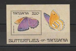 Tanzanie 1988 Papillons BF 66 ** MNH - Tanzania (1964-...)
