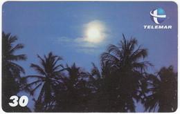 BRASIL P-142 Magnetic Telemar - Landscape, Coast, Sunset - Used - Brasil