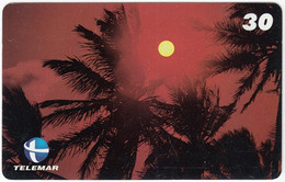 BRASIL P-143 Magnetic Telemar - Landscape, Coast, Sunset - Used - Brasil