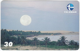 BRASIL P-144 Magnetic Telemar - Landscape, Coast, Sunset - Used - Brasil