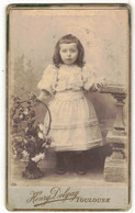 OCCITANIE VERITABLE PHOTO BROMURE PHOTOGRAPHE DELGAY TOULOUSE SUPPORT CARTONNE CDV ENFANT A IDENTIFIER A LOCALISER - Anciennes (Av. 1900)