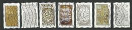 FRANCE  2012  Adhésifs /  LOT  1 - 7  Timbres  Oblitéré - Adhesive Stamps