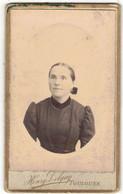 OCCITANIE VERITABLE PHOTO BROMURE PHOTOGRAPHE DELGAY TOULOUSE SUPPORT CARTONNE CDV FEMME A IDENTIFIER A LOCALISER - Anciennes (Av. 1900)