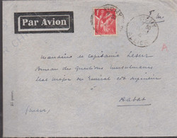 LSC - En Franchise  + 1 FRANC : Taxe AVION - De  VICHY Pour RABAT - Militaire Stempels Vanaf 1900 (buiten De Oorlog)