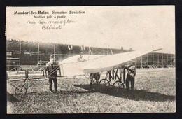 MONDORF LES BAINS ( Luxembourg) Plan TOP Sur Le Pilote Mollien à Bord De Son Monoplan Blériot.... - Mondorf-les-Bains