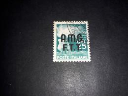 """A8MIX21 TRIESTE TERRITORIO LIBERO ZONA A 1947-48 DEMOCRATICA 25 C. """"O"""" - Used"""