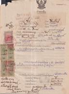 Siam Thailand Document With REVENUES - Siam