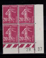 Coin Daté - YV 190 N** Semeuse Du 28.4.37 - ....-1929