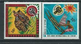 Wallis Et Futuna N° 232 / 33  XX  Année Internationale De L'Enfant, Les 2 Valeurs Sans Charnière,  TB - Used Stamps