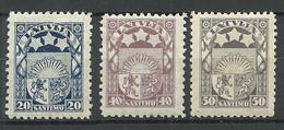 LETTLAND Latvia 1923 Michel 95 - 97 * - Lettland