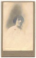 OCCITANIE VERITABLE PHOTO BROMURE PHOTOGRAPHE DELGAY A TOULOUSE SUPPORT CARTONNE CDV FEMME A IDENTIFIER A LOCALISER - Anciennes (Av. 1900)