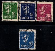 Norvège 1925 Mi. 116-119 Oblitéré 80% 10 O, 15 O, 20 O, 45 O. - Usados