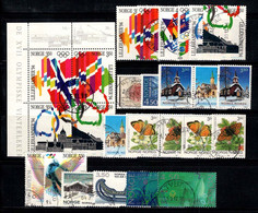 Norvège 1994 Oblitéré 100% Papillon, Neige, Jeux Olympiques, Traîneau - Usados