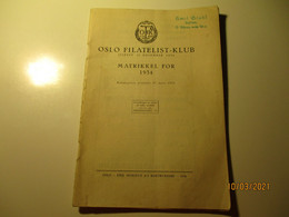 1934 NORWAY OSLO FILATELIST KLUB MATRIKKEL FOR 1934 , M - Scandinavian Languages