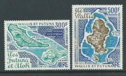 Wallis Et Futuna P.A. N° 80 / 81 XX Cartes Des Iles De Wallis Et Futuna, La Paire Sans Charnière, TB - Unclassified