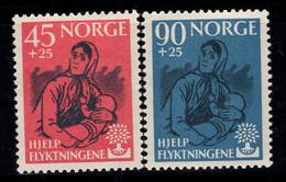 Norvège 1960 Mi. 442-443 Neuf * 100% Année Mondiale Des Réfugiés - Nuevos