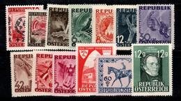 Autriche 1946-47 Neuf ** 100% Vues, Religion, Personnalité, Emblèmes - 1945-60 Nuevos & Fijasellos