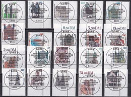 Bund Freimarken Sehenswürdigkeiten - Lot Randstücke - Gestempelt Used - Used Stamps