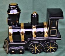 Rare Bouteille Liqueur De Collection Locomotive En Céramique - Spirits