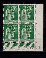 Coin Daté - YV 280 N** Paix Coin Daté Du 27.9.37 - 1930-1939