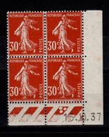 Coin Daté - YV 360 N** Semeuse Du 15.10.37 - 1930-1939