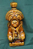 Rare Bouteille Liqueur De Collection Statue Aztèque   En Céramique - Spirits