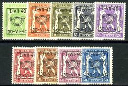 België PRE446/PRE454 ** - 1940 - Klein Staatswapen - Petit Sceau De L'état - Preo Reeks 19 - 9w. - Typografisch 1936-51 (Klein Staatswapen)