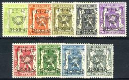 België PRE475/PRE483 ** - 1942 - Klein Staatswapen - Petit Sceau De L'état - Preo Reeks 22 - 9w. - Typografisch 1936-51 (Klein Staatswapen)