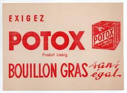 - BUVARD POTOX - Produit Liebig - BOUILLON GRAS - - Soups & Sauces