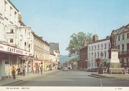 Postcard The Bulwark Brecon [ Austin Mini In Centre ] My Ref B24666 - Breconshire