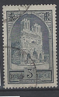 FRANCE 1929 TIMBRE 259c TYPE IV OBLITERE CATHEDRALE DE REIMS - Usados