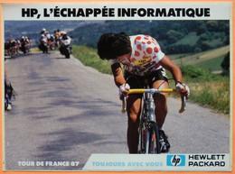 AUTOCOLLANT STICKER - HEWLETT PACKARD TOUR DE FRANCE 1987 - L' ECHAPPEE INFORMATIQUE - Adesivi