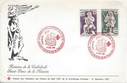 FDC CROIX ROUGE 1967 SAINT DENIS Musée De Dieppe Ivoire Bateau - Briefe U. Dokumente