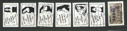 FRANCE  2011  Adhésifs /  LOT  11  - 7  Timbres  Oblitéré Tous Différents - Adhesive Stamps
