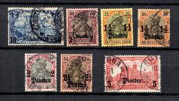 Levant Allemand YT N° 17, N° 20, N° 32/35 Et N° 37 Oblitérés. B/TB. A Saisir! - Deutsche Post In Der Türkei