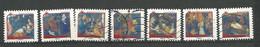 FRANCE  2011  Adhésifs /  LOT  36  - 7  Timbres  Oblitéré Tous Différents - Adhesive Stamps