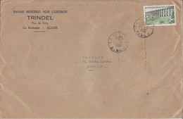 LA REDOUTE ALGER 27/8/1962 Pour Paris Timbre Viaduc De Chaumont Format A5 - Covers & Documents