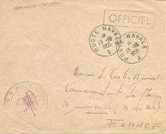 PATROUILLEUR  L'INCONSTANT - Cachet Poste Navale 13 Octobre 1955 - Correo Naval