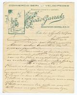 C9A) Lettre Commerce Vélos Portugal Carta Comercial 1900 JOÃO GARRIDO Velocipedes Lisboa 1900 - Portugal