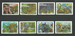 FRANCE  2011  Adhésifs /  LOT  46  - 8  Timbres  Oblitéré Tous Différents - Adhesive Stamps