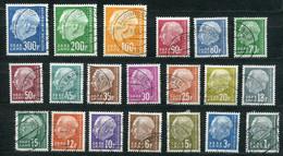 "Germany Saarland 1957 Dauerserie Mi.Nr.380/99 ""Bundespräsiden Heuss,"" 20 Werte,used,gestempelt - Usati"