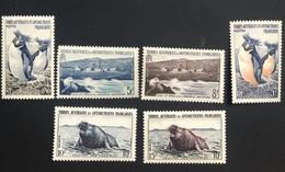 TAAF Yvert N° 2 à 7 Neuf Très Beaux Avec De Légères Traces De Charnière - Unused Stamps