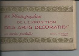 PARIS  Exposition DES ARTS DECORATIFS 25 CARTES  1925 - Mostre