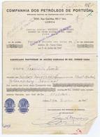 C9A) Facture Essence COMPANHIA DOS PETRÓLEOS DE PORTUGAL 1949 Oil - Portugal