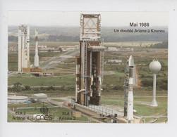 Doublé Ariane 4 Mai 1988 (fusée) Guyane Française : Kourou - Espace